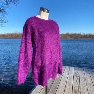 VTG NWT Rafaella purple mohair crew neck sweater